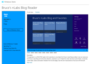 Bruce's nLabs Blog Reader - Release 2