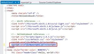 JavaScriptIntellisenseHTML