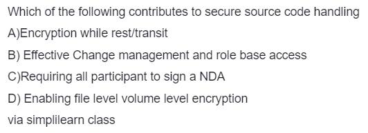 Secure Source Code Handling