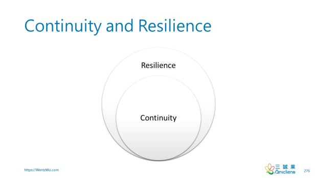 Continuity and Resilience